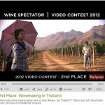 'Winemaking in Thailand' honored in Wine Spectator Video Contest!